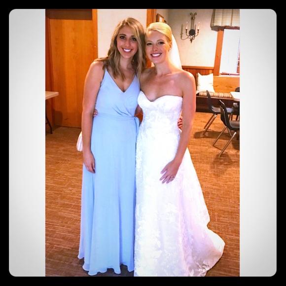 After Six Dresses & Skirts - After Six V-neckline Bridesmaid Dress in Mist